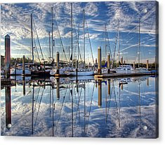Marina Morning Reflections Acrylic Print by Farol Tomson