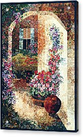 Marina's Garden Acrylic Print by Lenore Crawford
