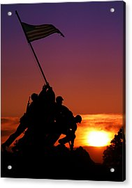 Marine Corps Memorial Acrylic Print by Mitch Cat
