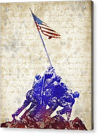 Marine Corps War Memorial Acrylic Print by Aged Pixel