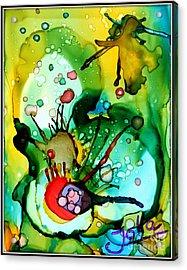 Marine Habitats Acrylic Print by Jolanta Anna Karolska