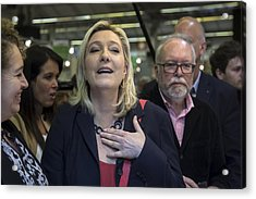 Marine Le Pen Attends The International Lepine Contest Acrylic Print by Vincent Isore/IP3