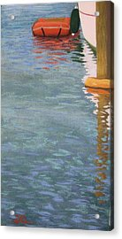 Acrylic Print featuring the pastel Marine Reflections by Serena Dawson