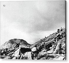 Marines Land On Iwo Jima Acrylic Print by Underwood Archives
