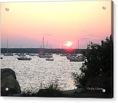 Acrylic Print featuring the photograph Marion Massachusetts Bay by Kathy Barney