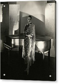 Marion Morehouse By A Piano Acrylic Print