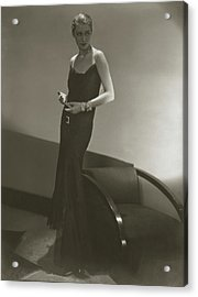 Marion Morehouse In A Chanel Dress Acrylic Print