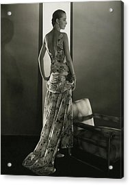 Marion Morehouse Wearing A Louiseboulanger Dress Acrylic Print