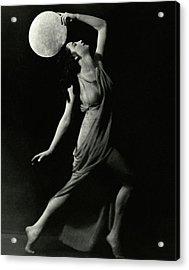 Marion Morgan Holding A Circle Acrylic Print