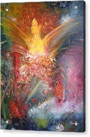 Mariposa Acrylic Print by Julio Lopez