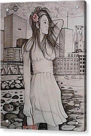 Marissa Acrylic Print by Richie Montgomery