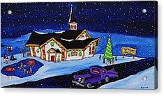 Maritime Christmas Acrylic Print by Holly Everett