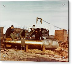 Mark 13 Torpedo Is Serviced By Navy Acrylic Print