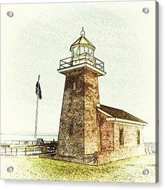 Mark Abbott Lighthouse Santa Cruz California Acrylic Print by Paul Topp