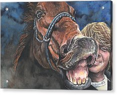 Mark And Shady..a Selfie Acrylic Print by Kim Sutherland Whitton
