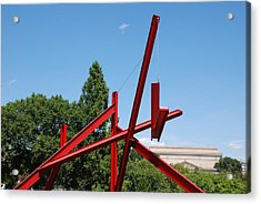 Mark Di Suvero Steel Beam Sculpture Acrylic Print