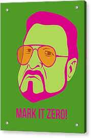 Mark It Zero Poster 2 Acrylic Print by Naxart Studio