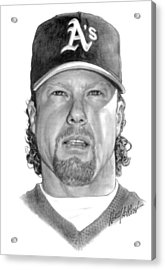 Mark Mcgwire Acrylic Print by Harry West
