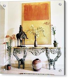 Mark Rothko Painting Above A Table Acrylic Print