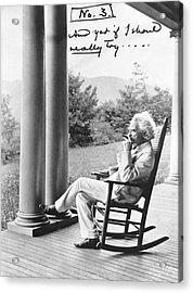 Mark Twain On A Porch Acrylic Print