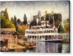 Mark Twain Riverboat Frontierland Disneyland Photo Art 02 Acrylic Print