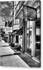 Mark Twain's Town Bw Acrylic Print