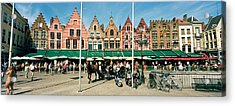Market At A Town Square, Bruges, West Acrylic Print