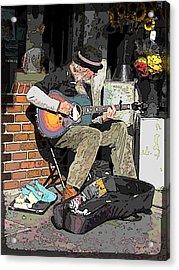 Market Busker 5 Acrylic Print by Tim Allen