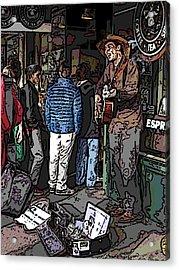 Market Busker 7 Acrylic Print by Tim Allen
