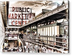 Market Center Acrylic Print by Spencer McDonald