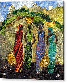 Market Day #1 Acrylic Print by Lynda K Boardman