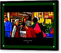 Market Day In Chinatown  Acrylic Print by Joseph Coulombe