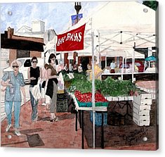 Market Day Acrylic Print by June Holwell