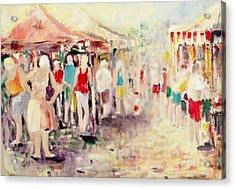 Market Day Acrylic Print by Ken Parkes