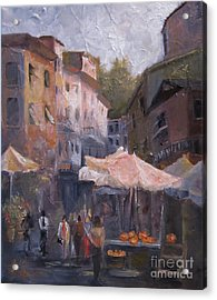 Market Day Acrylic Print by Leah Wiedemer
