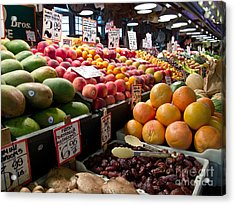 Market Fresh Acrylic Print by Arlene Carmel