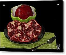 Market Fresh Pomegranate Fruit Acrylic Print by Inspired Nature Photography Fine Art Photography