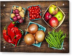 Market Fruits And Vegetables Acrylic Print by Elena Elisseeva