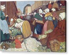 Market In Brest Acrylic Print by Fernand Piet