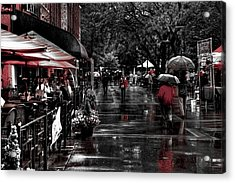 Market Square Shoppers - Knoxville Tennessee Acrylic Print by David Patterson