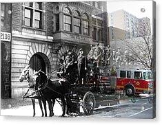 Market Street Fire Station Acrylic Print