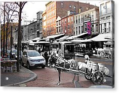 Market Street In Old City Acrylic Print