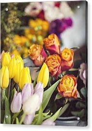 Market Tulips - Paris, France Acrylic Print