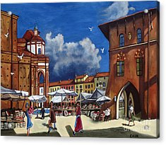 Marketplace Acrylic Print by William Cain