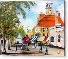 Acrylic Print featuring the painting Markets On High Street by Helen Syron