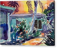 Marla's Beach House Acrylic Print