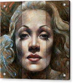 Marlene Dietrich Acrylic Print by Arthur Braginsky