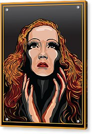 Marlene Dietrich Hollywood The Golden Age Acrylic Print by Larry Butterworth