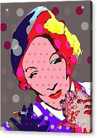 Marlene Dietrich Acrylic Print by Ricky Sencion