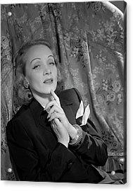 Marlene Dietrich Wearing A Suit Jacket Acrylic Print